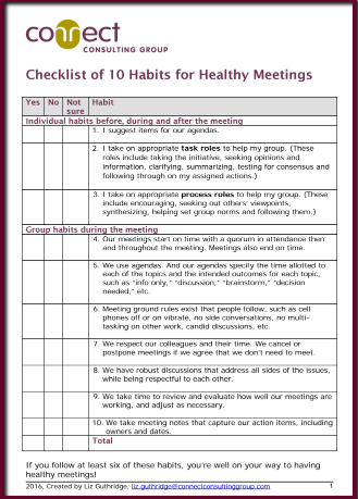 meeting checklist